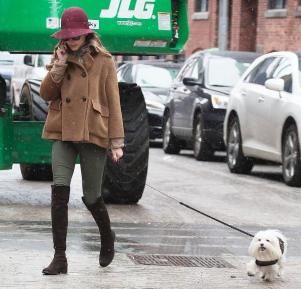 Olivia+Palermo+Walks+Dog+Snow+nIeuladtZMfl