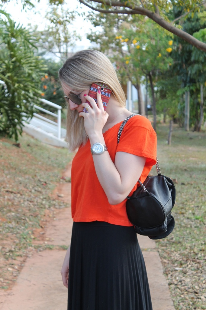Mirella preto + laranja 1