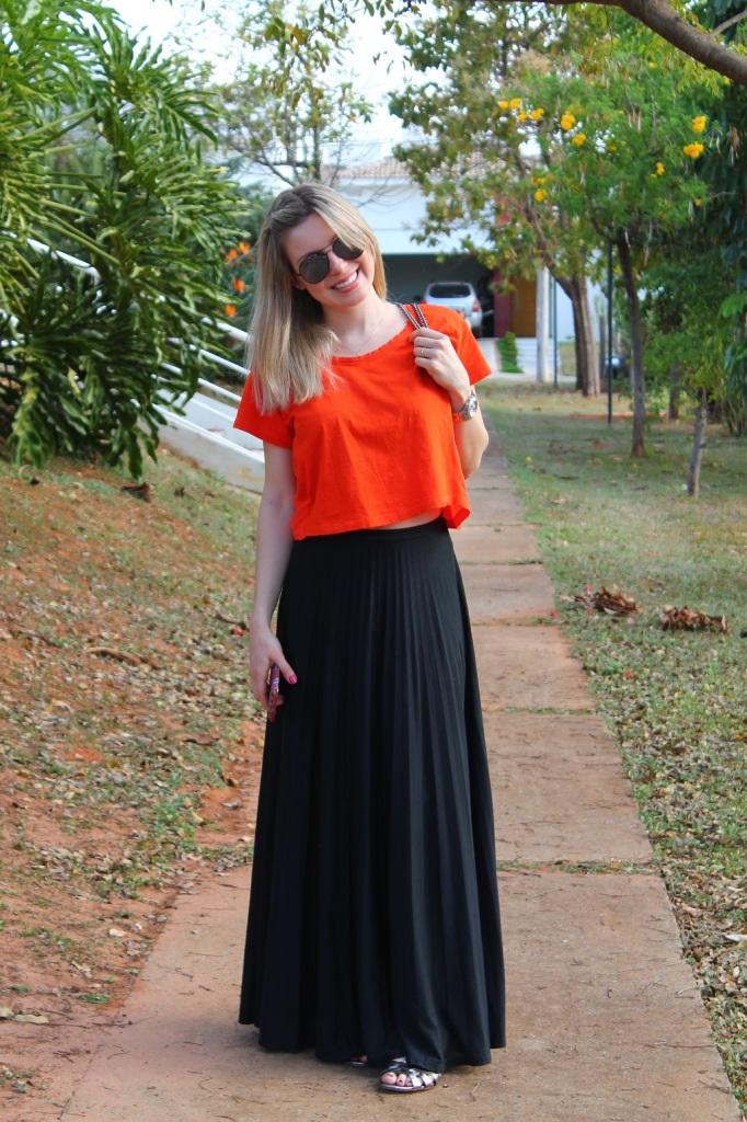 Mirella preto + laranja 10