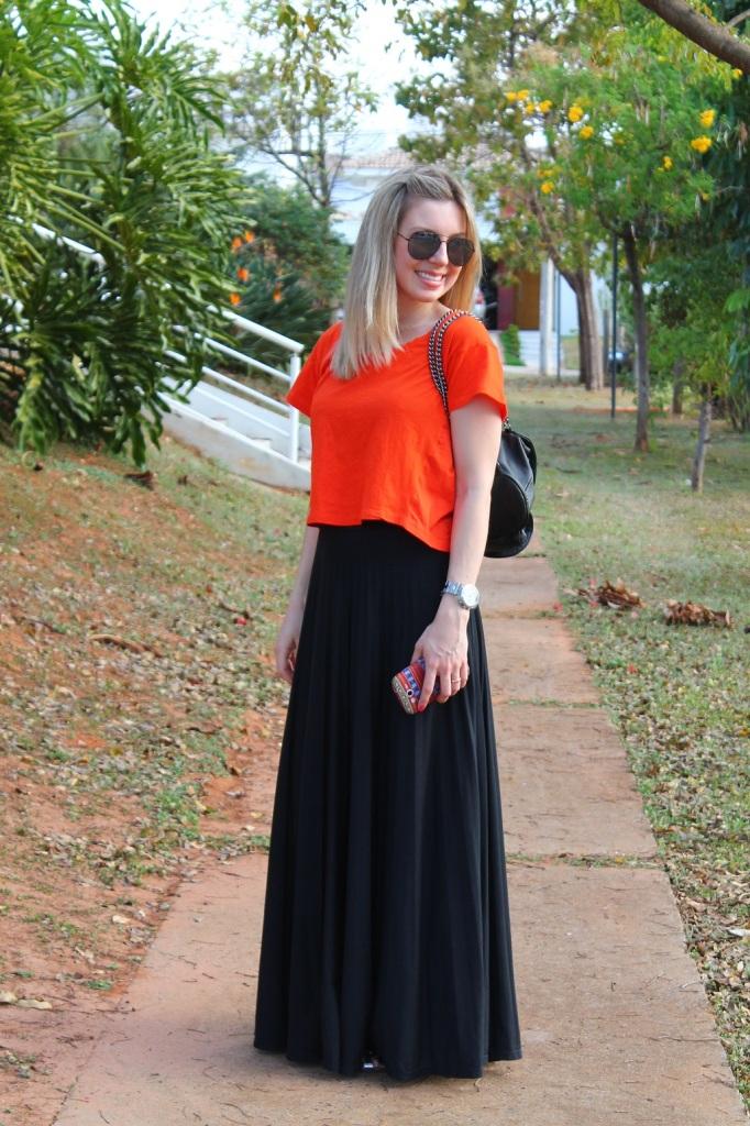 Mirella preto + laranja 11