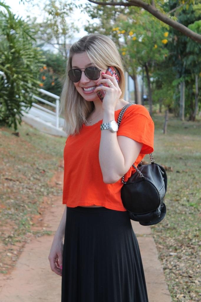 Mirella preto + laranja 2
