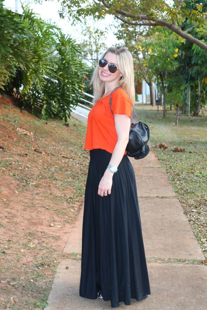Mirella preto + laranja 5