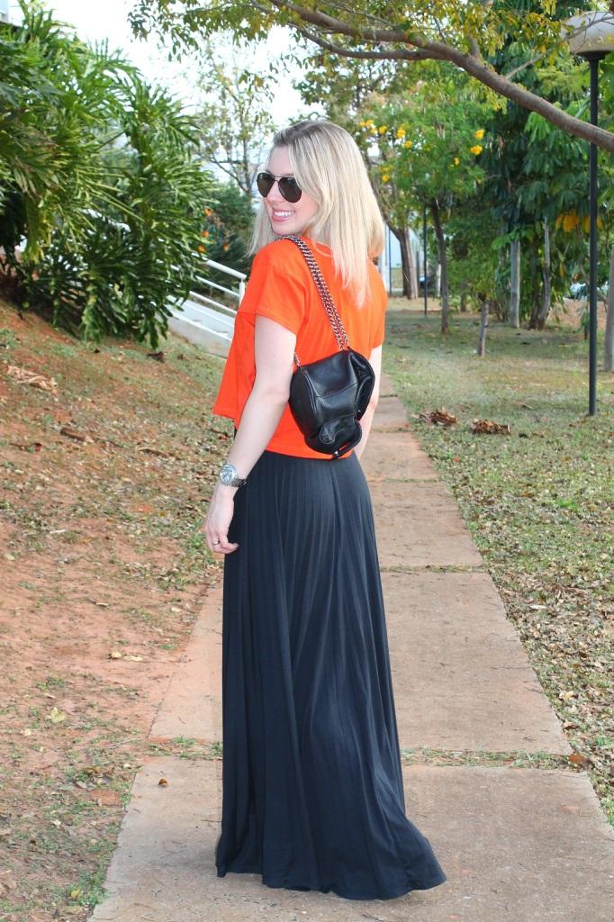 Mirella preto + laranja 6