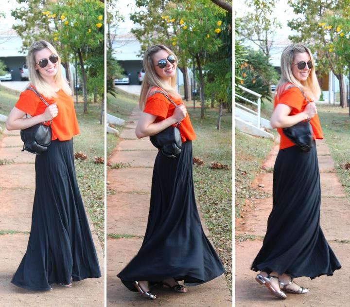 Mirella preto + laranja 7