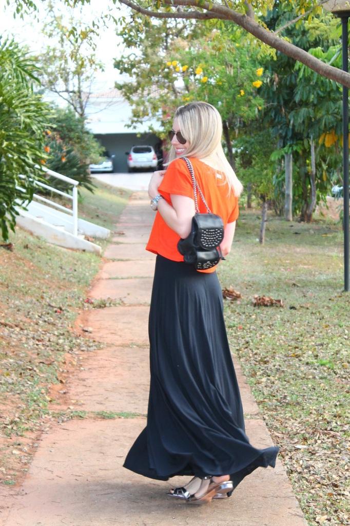 Mirella preto + laranja 8