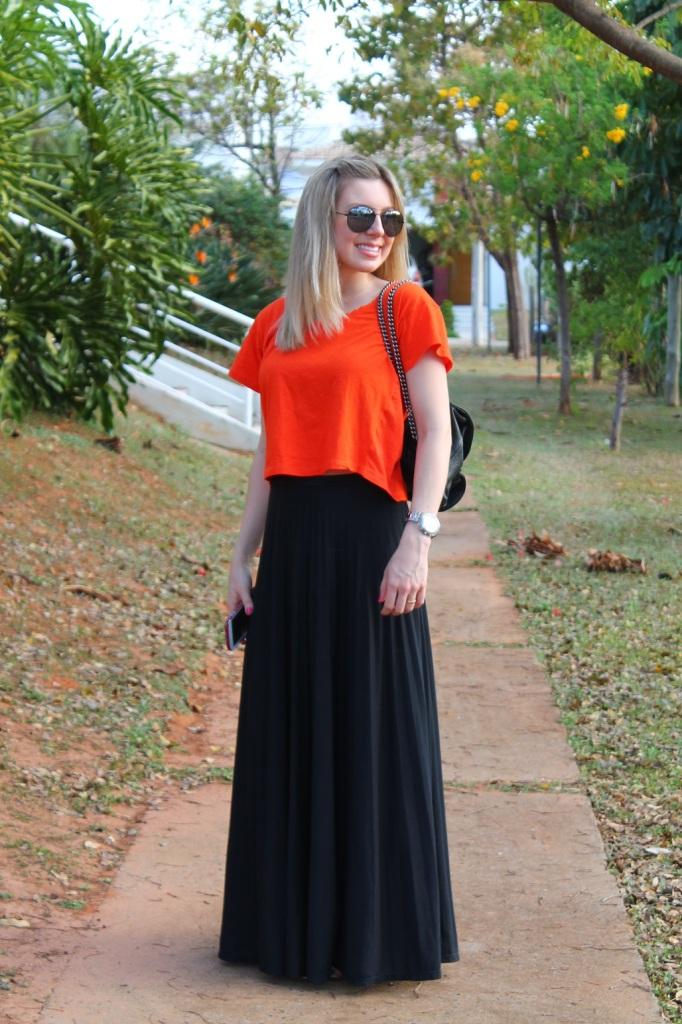 Mirella preto + laranja 9