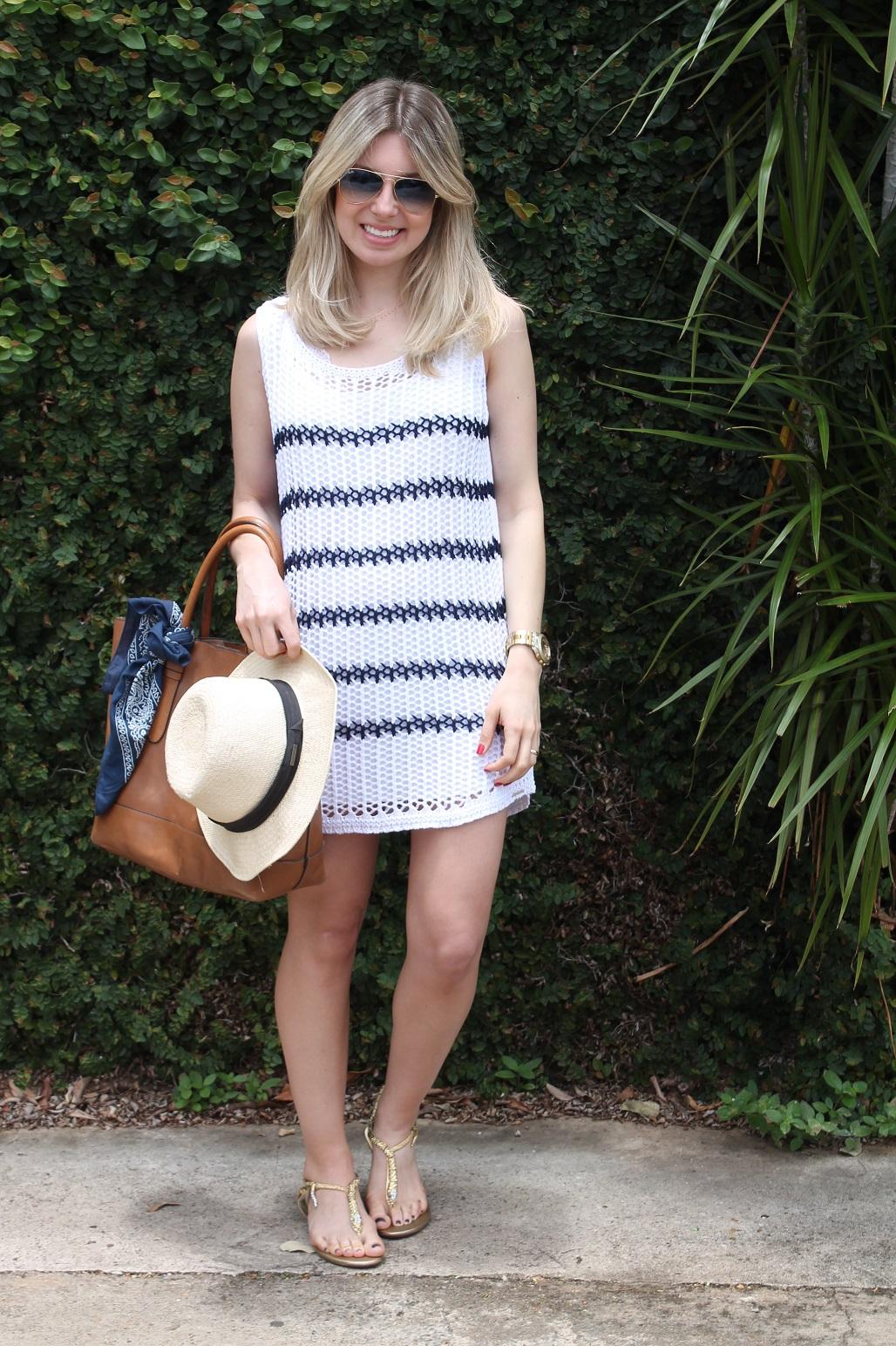 Look  Vestido crochê – Navy Style – Mirella Cabaz 84a2090868cab