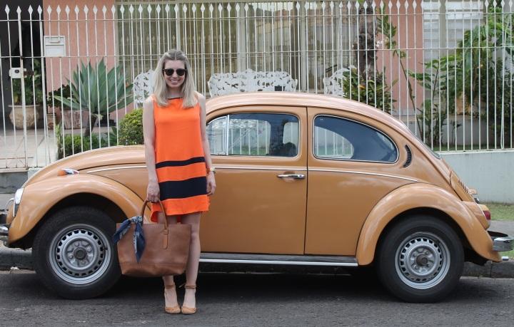 Mirella vestido laranja com marinho 10