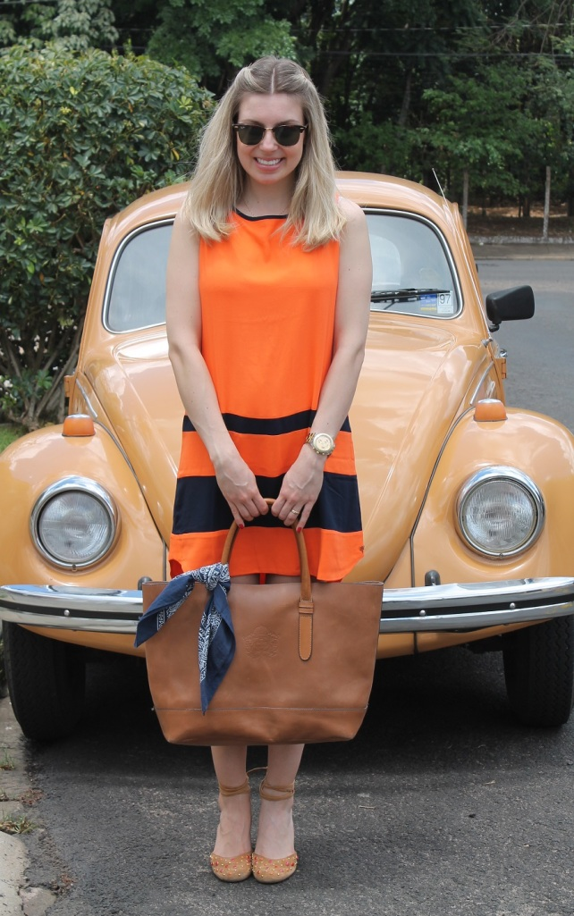 Mirella vestido laranja com marinho 4