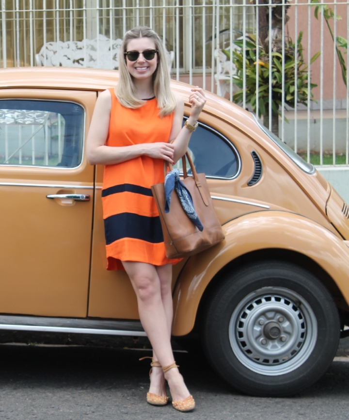 Mirella vestido laranja com marinho 6