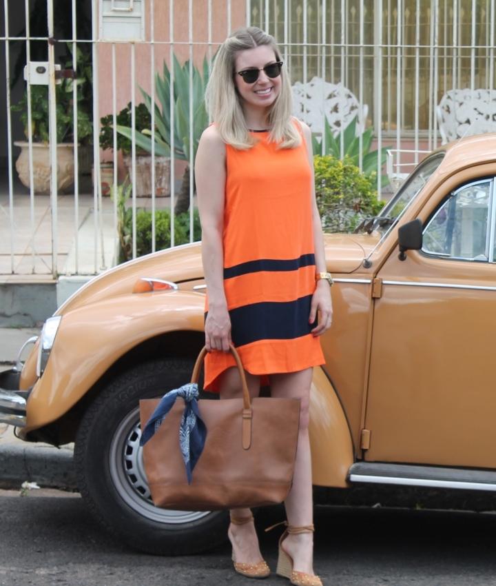 Mirella vestido laranja com marinho 9