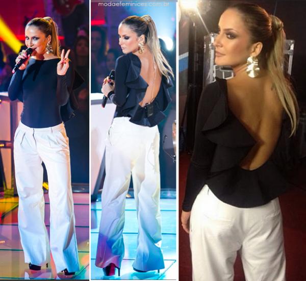 look-da-caludia-leitte-the-voice-brasil-07-de-novembro-calca-branca-blusa-preta