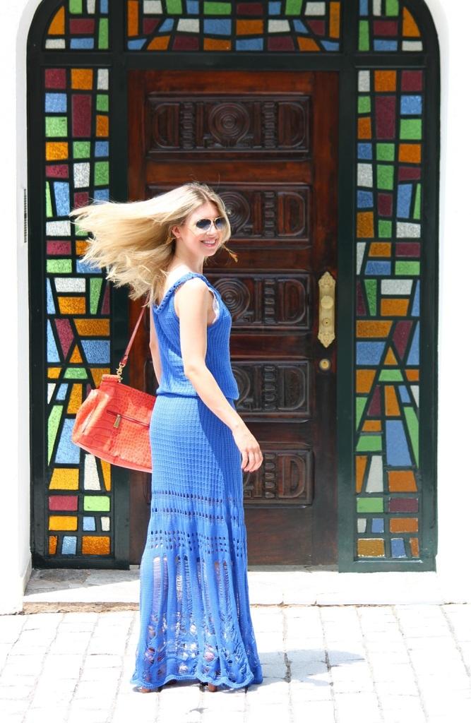 Mirella longo croche azul 5