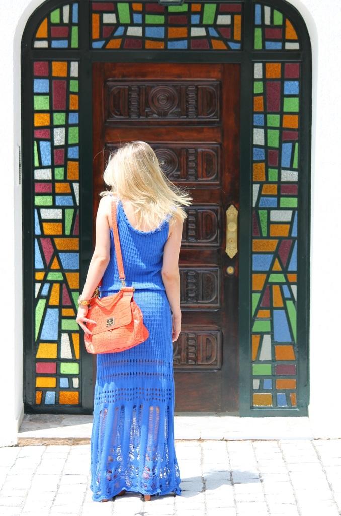 Mirella longo croche azul 6