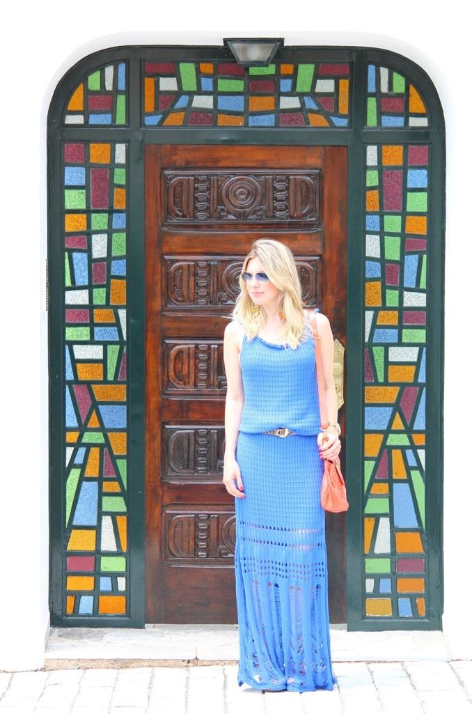 Mirella longo croche azul 8