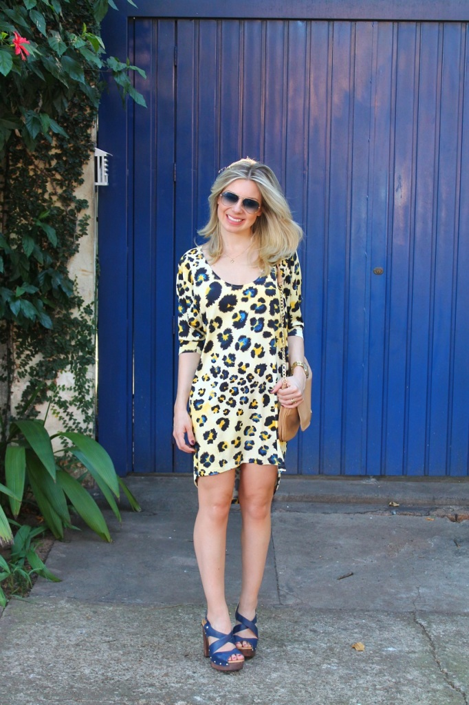 Animal print dress Mirella 1
