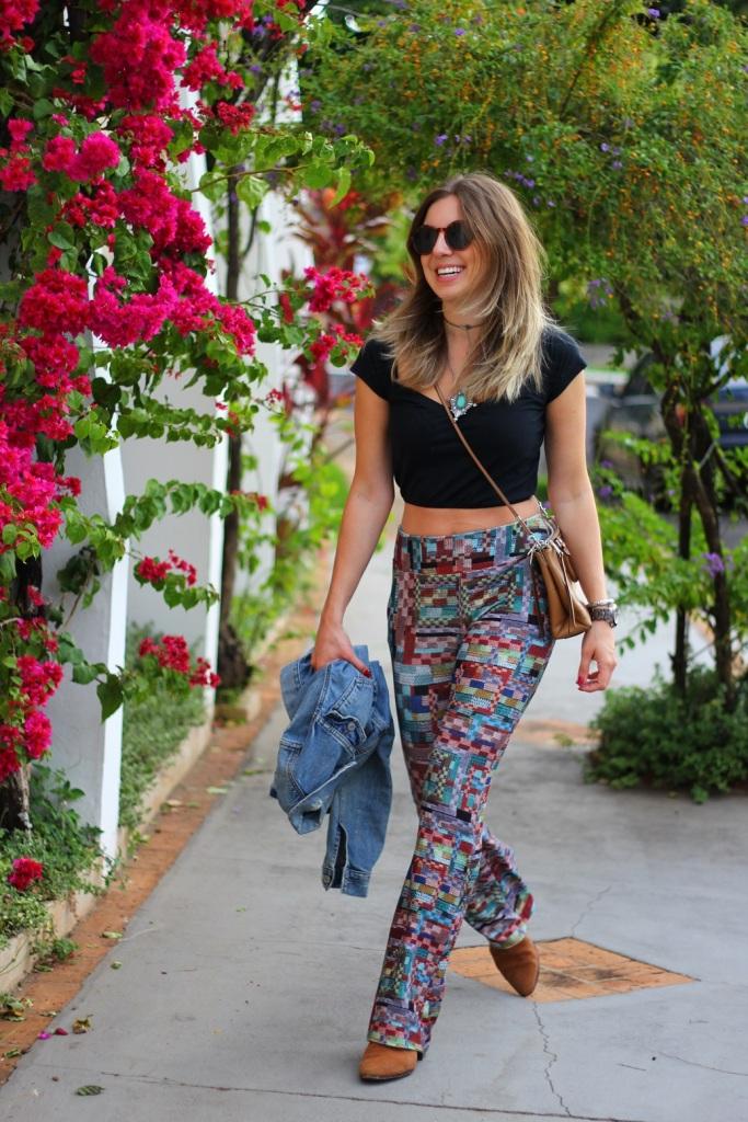 Mirella calça estampada Chica Brasil 12