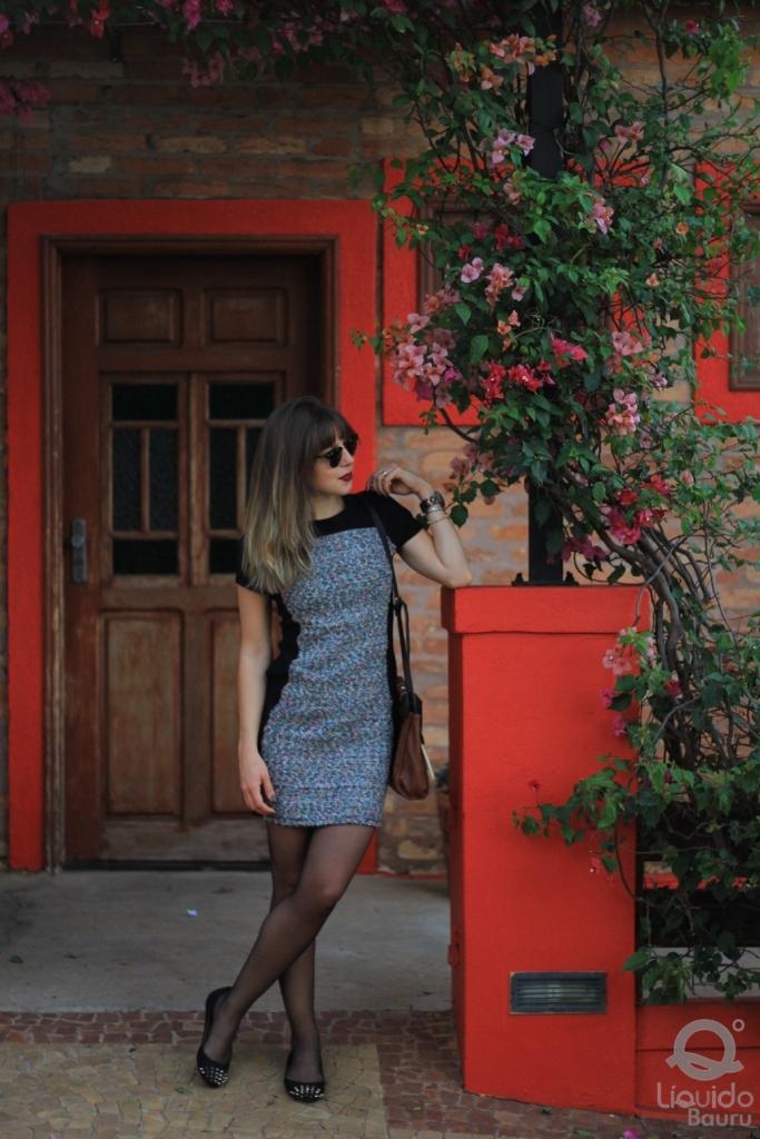 Mirella Liquido vestido tweed 5