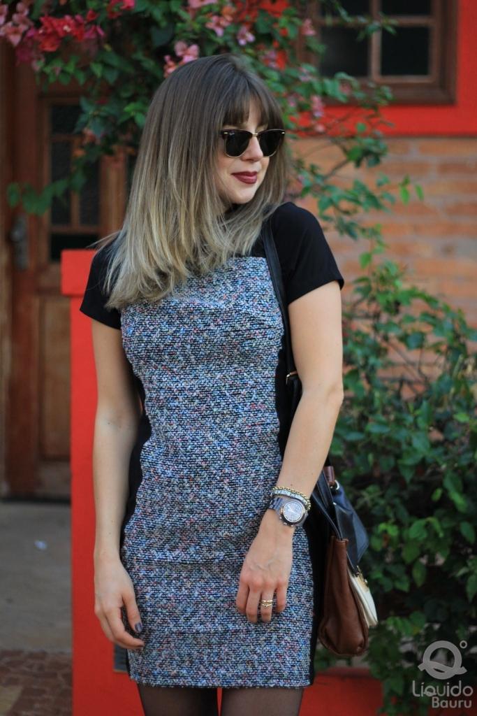 Mirella Liquido vestido tweed 9