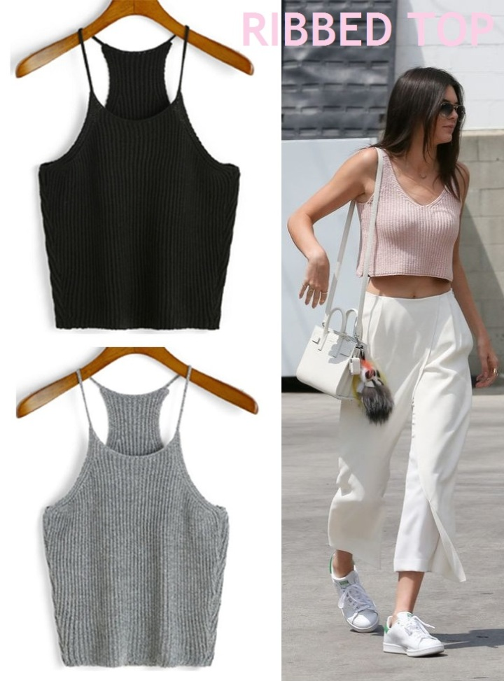 mirella ribbed halter top